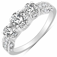 2.47CTW White Cubic Zirconia .925 Sterling Silver Ring
