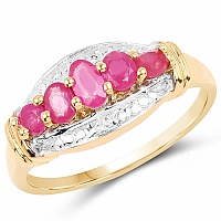 1.13CTW Genuine Ruby .925 Sterling Silver Ring