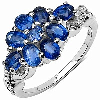 2.34CTW Genuine Kyanite .925 Sterling Silver Ring