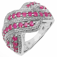 1.17CTW Genuine Ruby .925 Sterling Silver Ring