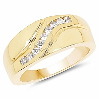 0.70CTW Genuine White Cubic Zircon .925 Sterling Silver Gold Pl