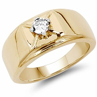 0.40CTW Genuine White Cubic Zircon .925 Sterling Silver Gold Pl