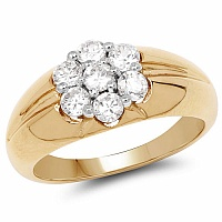 2.00CTW Genuine White Cubic Zircon .925 Sterling Silver Gold Pl