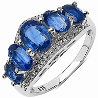 3.60CTW Genuine Kyanite .925 Sterling Silver Ring