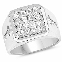 1.75CTW White Cubic Zircon .925 Sterling Silver Ring