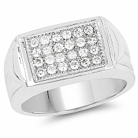 0.72CTW White Cubic Zircon .925 Sterling Silver Ring