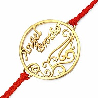 Gold Plated Brass 'Angel Brother' Rakhi
