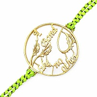 Gold Plated Brass 'Bond Like No Other' Rakhi