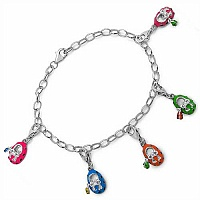 13.50 Grams Multicolor Enamel .925 Sterling Silver Shoe Charms