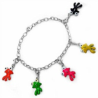 13.60 Grams Multicolor Enamel .925 Sterling Silver Fish Charms