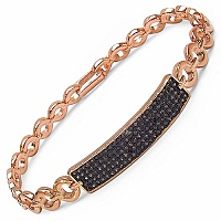 1.23CTW Champagne Cubic Zirconia Rose Gold Plated .925 Sterling