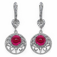 6.80 Grams Pink Cubic Zirconia & White Cubic Zirconia .925 Ster