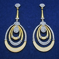 23.50 Grams White Cubic Zirconia Gold Plated Brass White Enamel