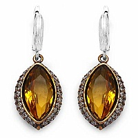 11.70 Grams Yellow Glass, Red Onyx & White Cubic Zirconia Bl