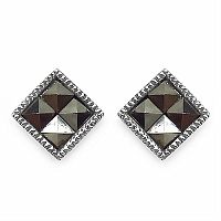 1.00 Grams Marcasite .925 Sterling Silver Earrings
