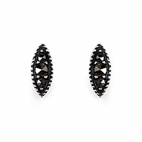 0.60 Grams Marcasite .925 Sterling Silver Earrings