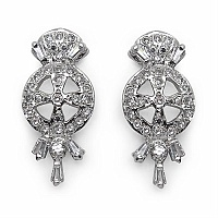 3.30 Grams American Diamond Brass Earrings