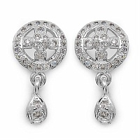 Gleam Touch 2.70 Grams American Diamond Brass Earrings
