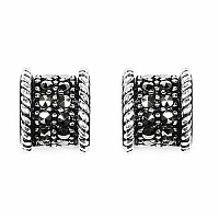 3.40 Grams Marcasite .925 Sterling Silver Earrings