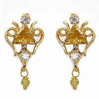 3.20 Grams Yellow Cubic Zirconia & White Cubic Zirconia Brass T