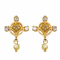 Gleam Touch 3.60 Grams Yellow Cubic Zirconia & White Cubic Zirc