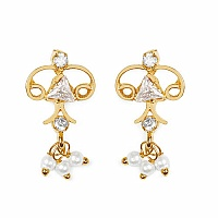Gleam Touch 2.90 Grams White Cubic Zirconia Brass Tops