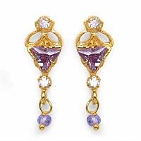 3.10 Grams Purple Cubic Zirconia & White Cubic Zirconia Brass T