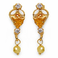 2.80 Grams Yellow Cubic Zirconia & White Cubic Zirconia Brass T