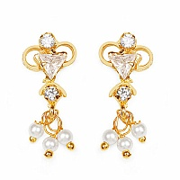 Gleam Touch 2.60 Grams White Cubic Zirconia Brass Tops