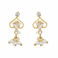 Gleam Touch 2.40 Grams White Cubic Zirconia Brass Tops