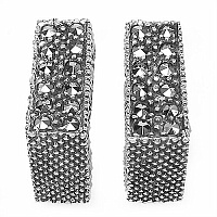 7.80 Grams Marcasite .925 Sterling Silver Earrings