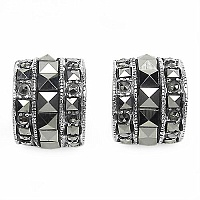 3.00 Grams Marcasite .925 Sterling Silver Earrings