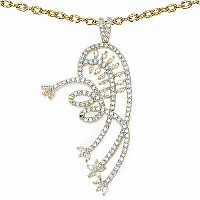 9.10 Grams White Cubic Zirconia Gold Plated Earrings