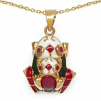 7.10 Grams Red Synthetic Stone & Ruby Gold Plated .925 Sterling