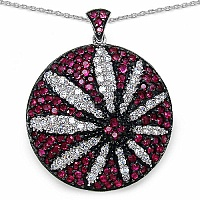 6.30 Grams Pink Cubic Zirconia & White Cubic Zirconia .925 Ster