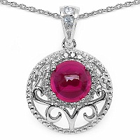 2.70 Grams Pink Cubic Zirconia & White Cubic Zirconia .925 Ster