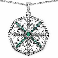 1.65CTW Green Cubic Zirconia .925 Sterling Silver Pendant