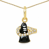 Shraddha 0.12CTW White Cubic Zirconia Brass Gold Plated Multico