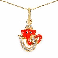 Shraddha 0.38CTW White Cubic Zirconia Brass Gold Plated Multico