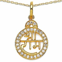 0.29CTW White Cubic Zirconia Brass Gold Plated Lord Shri Ram