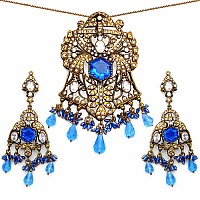 69.00 Grams White Cubic Zirconia, Blue Glass & White Glass G