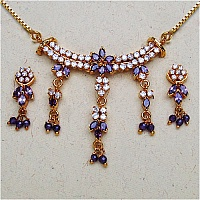 12.20 Grams Purple Cubic Zirconia & White Cubic Zirconia Gold P