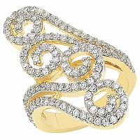 5.90 Grams White Cubic Zirconia Gold Plated Ring