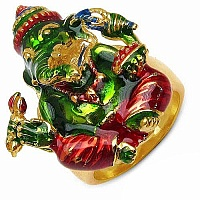 17.30 Grams Gold Plated .925 Sterling Silver Lord Ganesha Shape