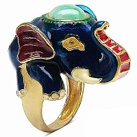 15.20 Grams Green Synthetic Stone Gold Plated .925 Sterling Sil