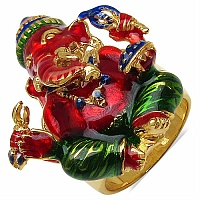 17.70 Grams Gold Plated .925 Sterling Silver Lord Ganesha Shape