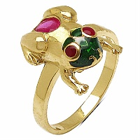 3.50 Grams Ruby Gold Plated .925 Sterling Silver Red, White & G