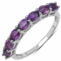 1.89CTW Genuine Amethyst .925 Sterling Silver Ring