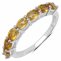1.89CTW Genuine Citrine .925 Sterling Silver Ring