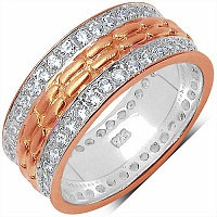 1.52CTW White Cubic Zirconia Rose Gold Plated .925 Sterling Sil
